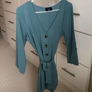 Women's seaform green romper. Size M. NEW!